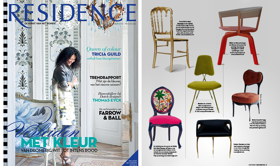 Residence October 2013 cover by Koket