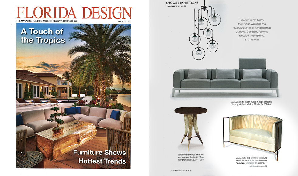 Florida Design September 2015 cover by Koket