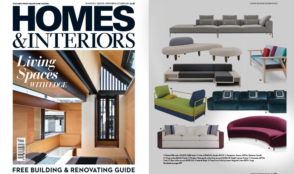 Homes And Interiors September 2015 Scotland Vamp Sofa