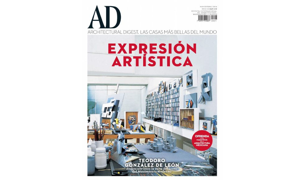 Architectural Digest November 2016 cover by Koket