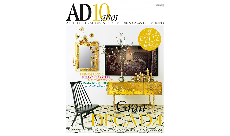 Architectural Digest March 2016 cover by Koket