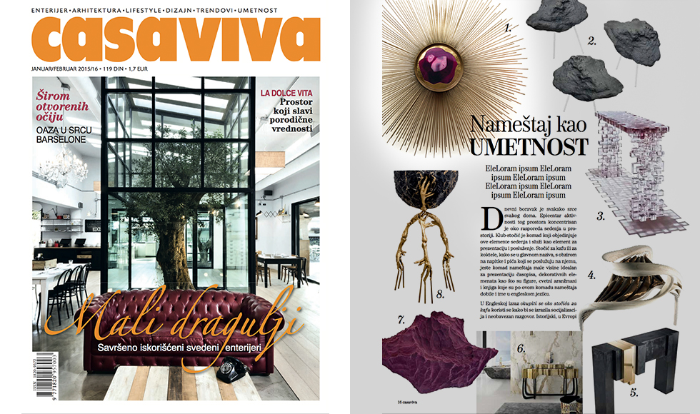 Casa Viva January 2016 cover by Koket