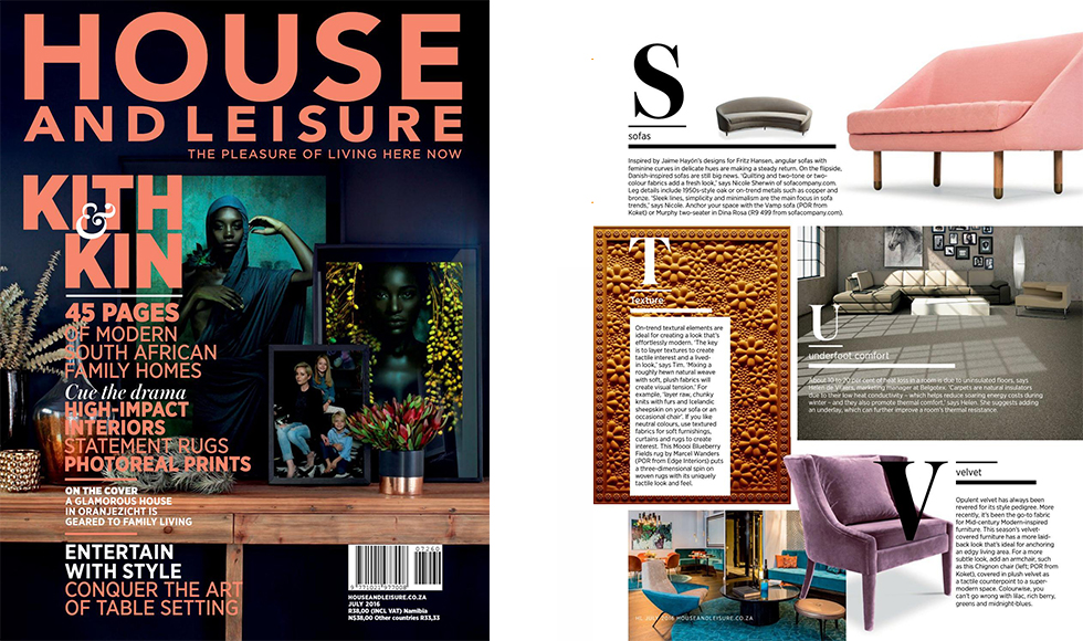 House and Leisure August 2016 cover by Koket