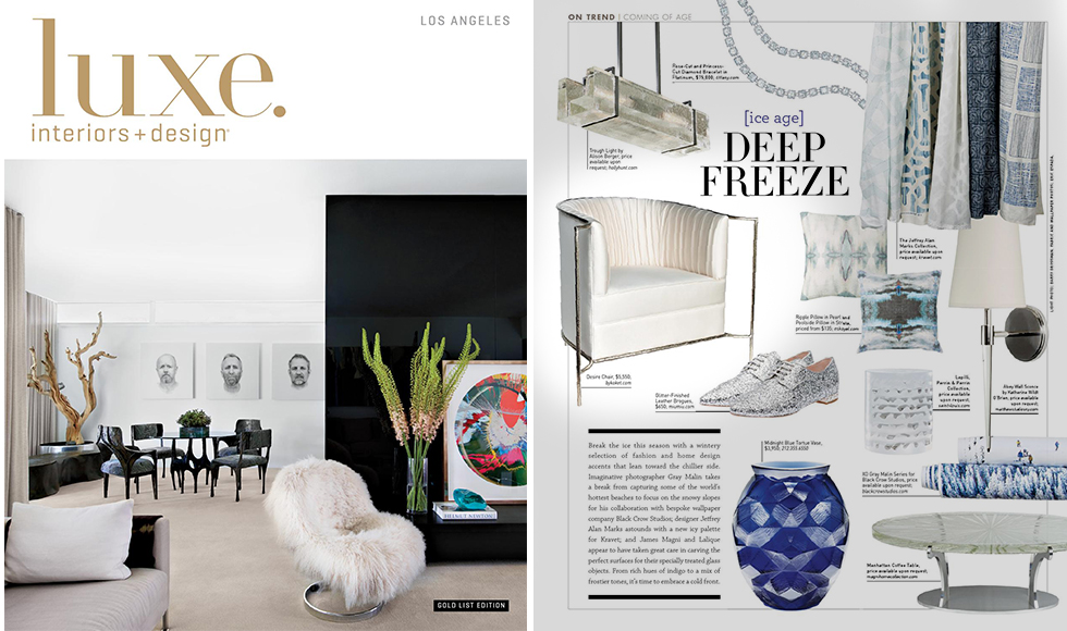 Luxe Interiors Design Los Angeles March 2016 cover by Koket