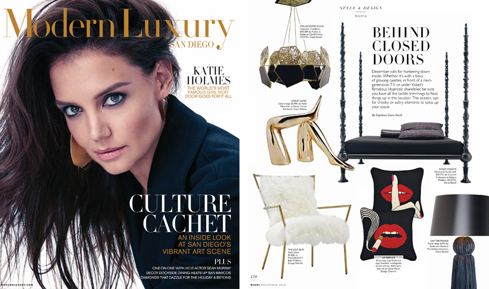 Modern Luxury San Diego December 2016 cover by Koket