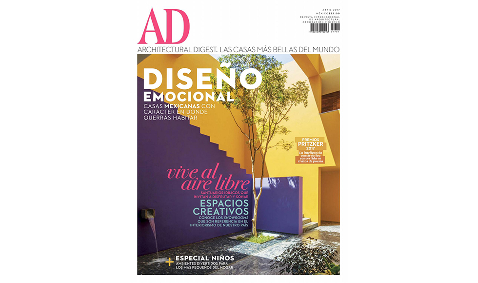 Architectural Digest April 2017 cover by Koket