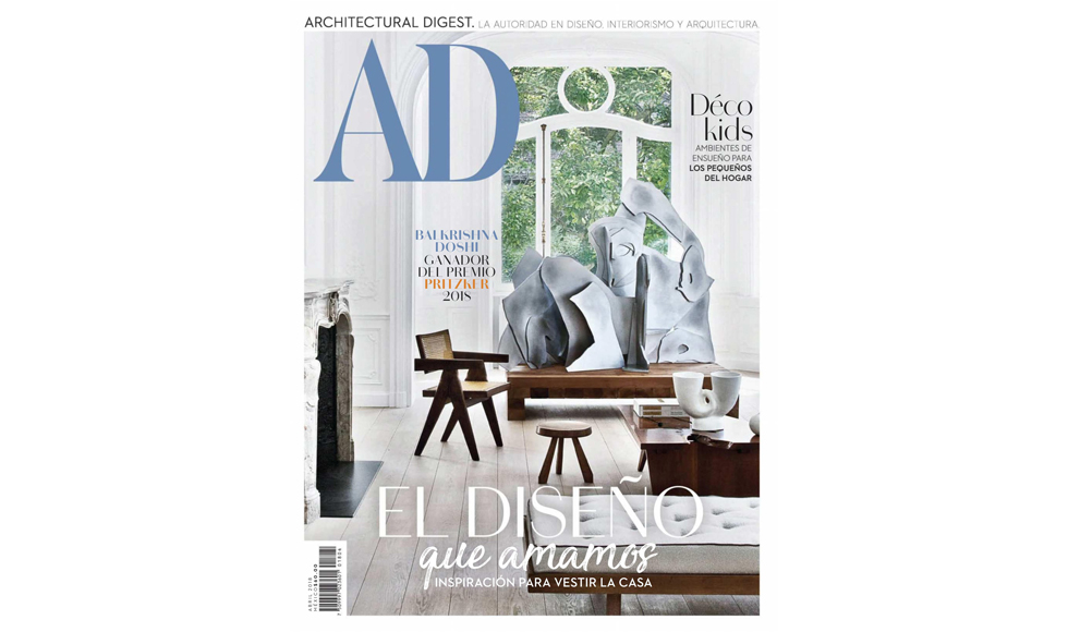 Architectural Digest April 2018 cover by Koket