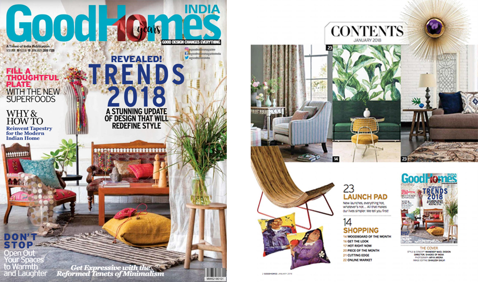 Good Homes January 2018 cover by Koket