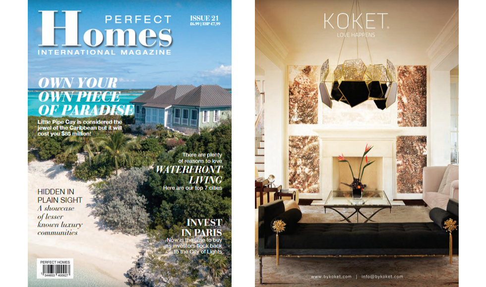 Perfect Homes July 2018 cover by Koket
