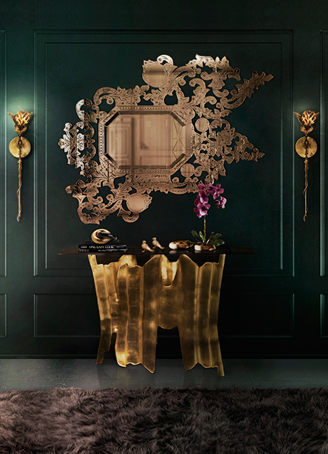 @koket Projects with Flora Sconce, Addicta Mirror and Obssedia console side table http://www.bykoket.com/projects.php