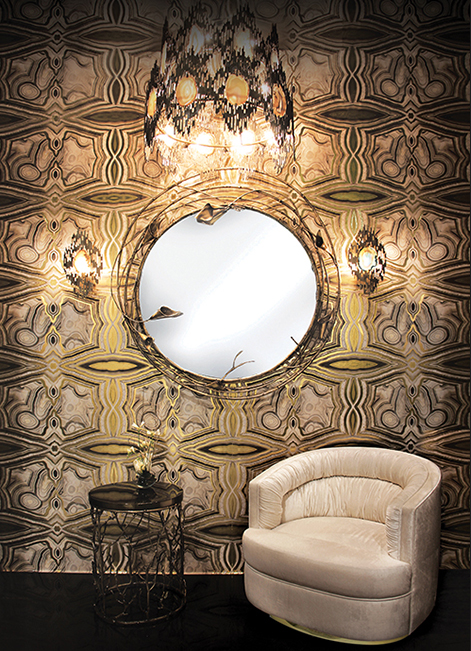 @koket Projects with Vivre chandelier, Stella Mirror and Enchanted Side table http://www.bykoket.com/projects/