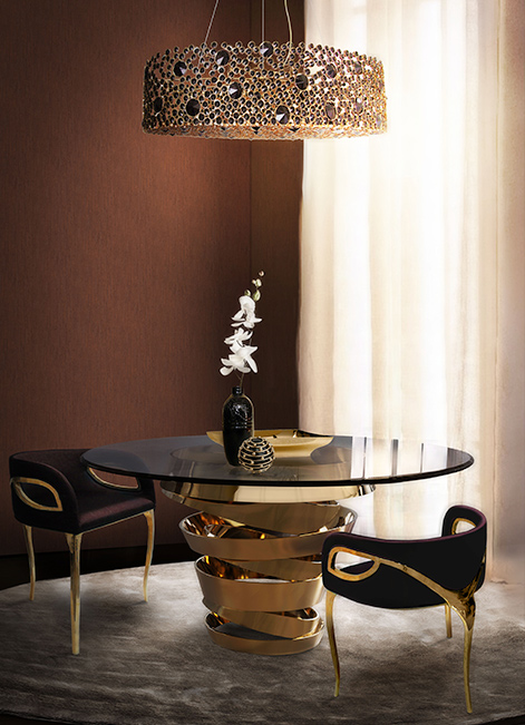 @koket Projects with Eternity I chandelier, Chandra chair and Intuition dining table http://www.bykoket.com/projects/