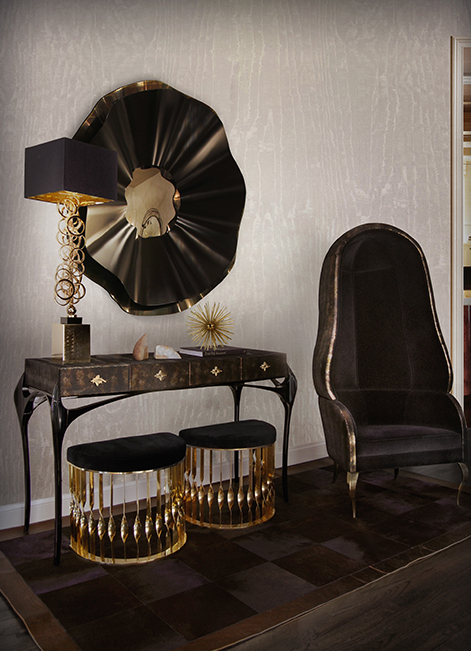 @koket Projects with Eternity chandelier, Chandra chair and Exotic Ormolu Desk http://www.bykoket.com/projects/