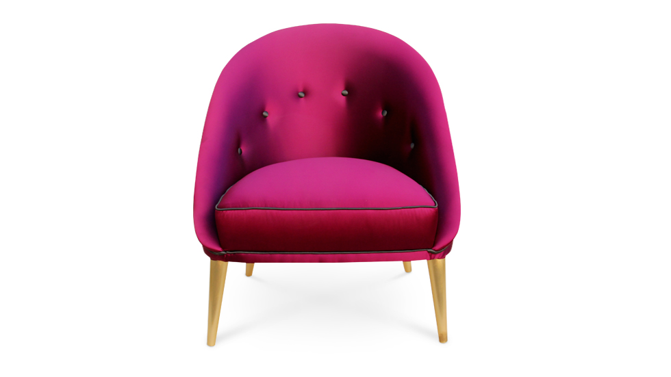 Nessa Pink Upholstered Chair  Summer Home Décor by Koket nessa chair 3