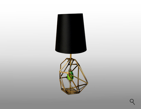 Gem Table Lamp Detail by KOKET