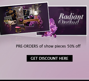 Radiant Orchid - AD Show 2014 - Pre-orders of show pieces 50% off