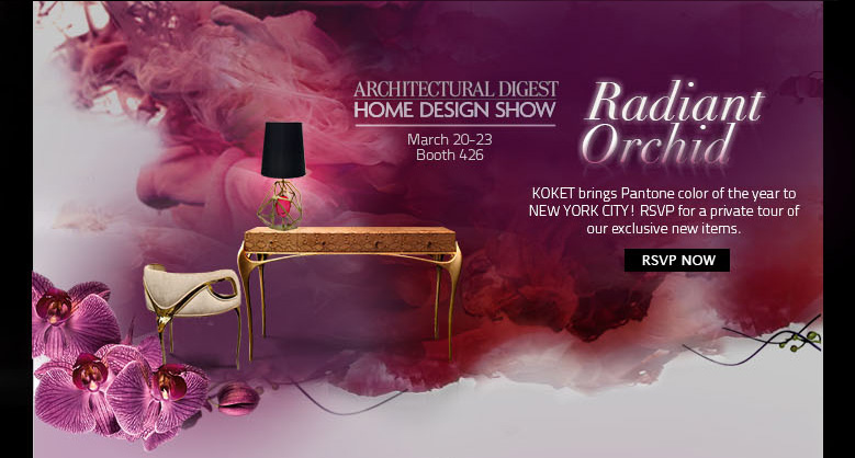 Radiant Orchid arrives to New York - AD Show 2014